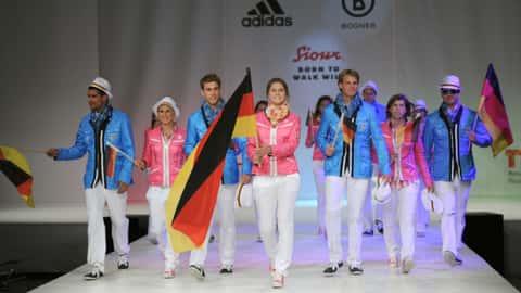 Einmarschkleidung der Olympischen Teilnehmer