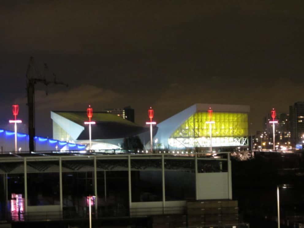 Olympiapark bei Nacht