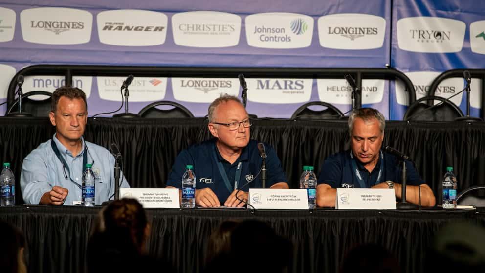 Pressekonferenz Weltreiterspiele 2018 Distanzreiten